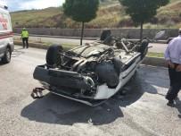 Çankırı'da Otomobil Takla Attı Açıklaması 2 Yaralı