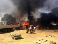Ot Yangını Palet Fabrikasına Sıçradı