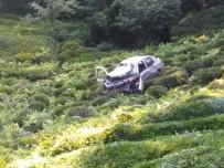 Otomobil Çay Bahçesine Uçtu Açıklaması 1 Ölü, 2 Yaralı