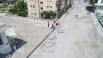 Saatçi Hoca Caddesi'nde Sıcak Asfalt Serimi İçin Hazırlıklar Sürüyor