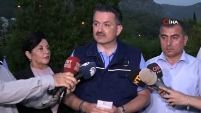 Bakan Pakdemirli Açıklaması 'Yangında Mahsur Kalan 5 Personelin Sağlık Durumu İyi'