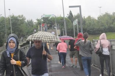 Yağışlı havalar etkisini göstermeye başladı