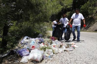 Kiremit Oluk Kanyonunda Çöp Temizliği