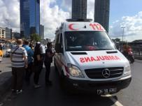 TRAFİK POLİSİ - Trafik Polisine Çarpan Taksici Gözyaşlarına Hakim Olamadı