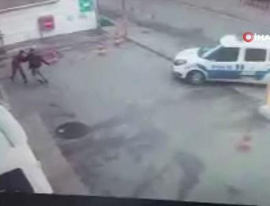 Saldırganı polis bile durduramadı