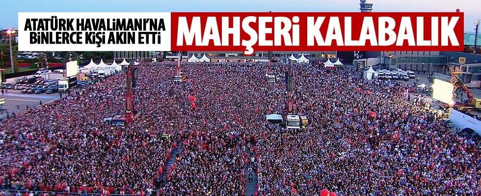 Cumhurbaşkanı Erdoğan'ı binlerce kişi karşıladı