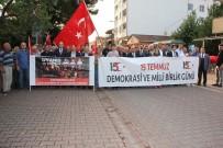 15 Temmuz'da 3 Şehidi Olan Cide'de Demokrasi Nöbeti Sabaha Kadar Sürdü