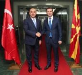 MAKEDONYA - Dışişleri Bakanı Çavuşoğlu, AB İşlerinden Sorumlu Başbakan Yardımcısı İle Görüştü