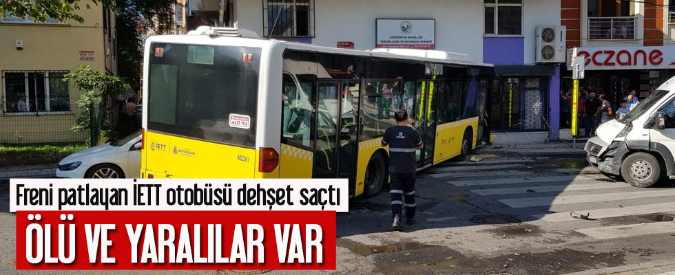 Freni patlayan İETT otobüsü dehşet saçtı: 1 ölü, 3 yaralı