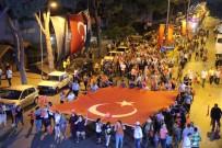 ANADOLU LİSESİ - Kuyucak'ta  Mehterli 'Demokrasi Ve Milli Birlik' Yürüyüşü