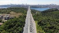 FSM Köprüsü'nde Bakım Ve Onarım Çalışmalarındaki Son Durum Havadan Görüntülendi