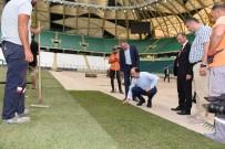 Konya Büyükşehir Stadyumunun Çim Zemini Yenilendi