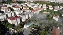 Üsküdar'daki Çatı Yangını Havadan Görüntülendi