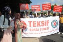 Bursa'daki O İşçiler Yine Eylemde