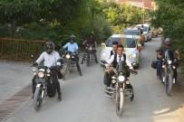 ARAÇ KONVOYU - Düğün Konvoyuna Motosikletler Eşlik Etti