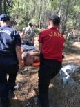 Ormanda Kaybolup Kayalıklardan Düşen Alzaymır Hastasını Jandarma Kurtardı