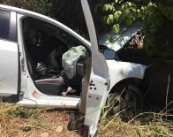 Adıyaman'da Otomobil Duvara Çaptı Açıklaması 3 Yaralı