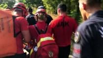 KELEBEKLER VADİSİ - Kelebekler Vadisi'nde Kayalıklardan Düşen Kişi Yaralandı