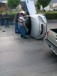 Otomobil Takla Attı, Sürücü Yaralı Kurtuldu