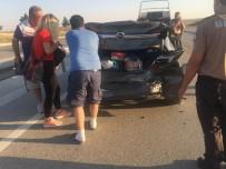 Konya'da Otomobiller Çarpıştı Açıklaması 5 Yaralı