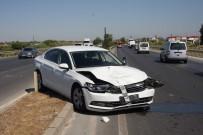 ZİNCİRLEME KAZA - Zincirleme Kaza Ucuz Atlatıldı