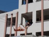 Isparta AFAD'dan FETÖ'nün Kapatılan Metruk Şirket Binasında Deprem Ve Yangın Tatbikatı