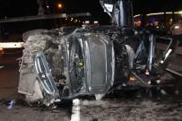 Otomobil Orta Refüje Çarparak Takla Attı Açıklaması 1 Ölü, 4 Yaralı