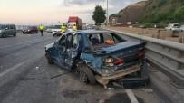 Düğün Konvoyunda Kaza Açıklaması 2 Yaralı