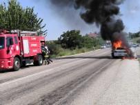 KARAKOL KOMUTANI - Komutanın Yeni Aldığı Otomobili Alev Alev Yandı