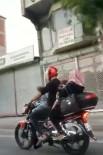 Motosiklete 5 Kişi Bindiler