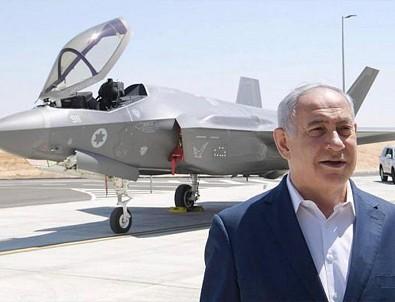 Netanyahu, F-35'lerin önünde poz verip açık açık tehdit etti