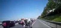 ETILER - (Özel) TEM Otoyolu'nda Kazadan Kıl Payı Kurtuluş Kamerada