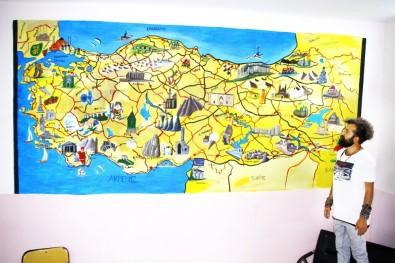 Sınırdaki Okula Türkiye Haritasını Çizdi