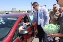 Erzurum Valisi Okay Memiş Trafik Denetleme Noktalarında İncelemelerde Bulundu