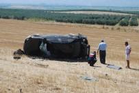 Lastiği Patlayan Araç Tarlaya Yuvarlandı Açıklaması 4 Yaralı