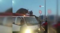 Sultangazi'de Kurbanlık Dana Böyle Kaçmaya Çalıştı