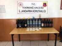 KAÇAK İÇKİ - Tekirdağ'da 118 Litre Kaçak İçki Yakalandı