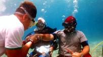 AKSAKAL - Fethiye'de Deniz Dibinde Bayramlaştılar