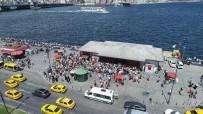 HEYBELIADA - (Özel) İstanbullular Adalar İskelesi'ne Akın Etti