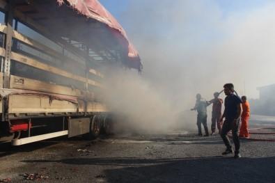 Fabrikaya Sıçrayan Orman Yangınına Müdahale Sürüyor