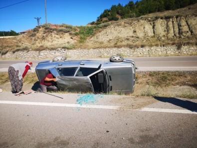 Otomobil Refüjde Takla Attı Açıklaması 1 Yaralı