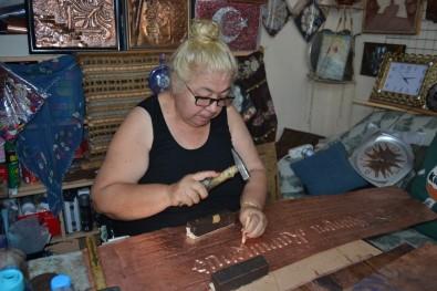 (Özel) Emekli Resim Öğretmeni Bakır İşlemeciliği Sanatından Vazgeçemiyor