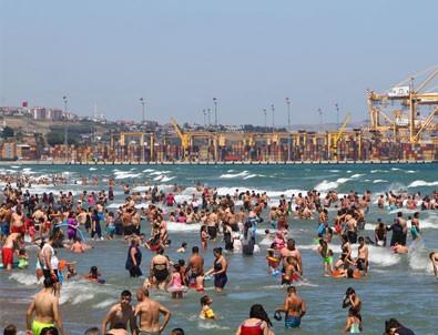 Tekirdağ'da plajlarda yoğunluk