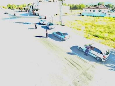Trafik Havadan Helikopter Ve Drone İle Denetlendi