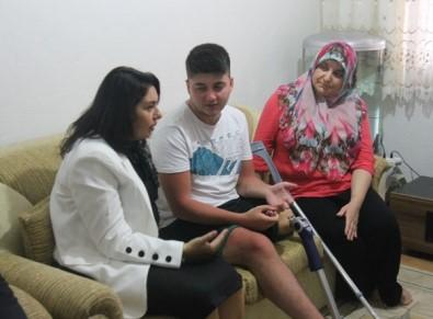 Trafik Kazasında Ayağını Kaybeden Gence Milletvekilinden Destek