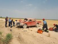 Karaman'da Kamyonet Devrildi Açıklaması 1 Ölü, 4 Yaralı
