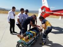 AMBULANS HELİKOPTER - Kayalıktan Yuvarlanan Yaşlı Adam, Ambulans Helikopterle Kurtarıldı