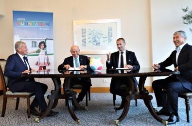 TFF İle UEFA Çocuk Vakfı, Suriyeli Çocuklara Yardım İçin İş Birliği Protokolü İmzaladı