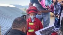 3 Yaşındaki  Lösemi Hastası Ahmet'in İtfaiyecilik Hayali Gerçek Oldu