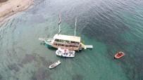 GEZİ TEKNESİ - Sinop'ta Gezi Teknesi Karaya Oturdu